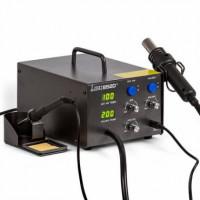 Паяльная станция LUKEY 852D+ с термофеном и паяльником. 4 дополнительные насадки.