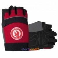 Перчатка Microfiber без пальцев вставки спандекса и неопрена эластичный манжет на липучке 9 дюймов SP-0142 Intertool