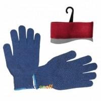 Перчатка трикотажная синтетическая SP-0104 Intertool 9 дюймов с покрытием PVC точкой на ладони синяя