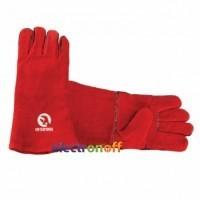Перчатка замшевая 14 дюймов красная SP-0156 Intertool