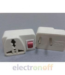 Переходник сетевой универсальный с выключателем