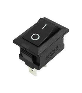 Переключатель on-off, черный, 2pin, 6A (MRS-101/KCD1-101)