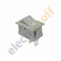 Переключатель on-off, серый, 2pin (KCD1-101-1)