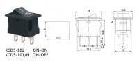 Переключатель on-on, черный, 3pin (KCD5-102)