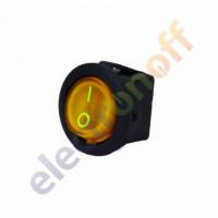Переключатель с подсветкой on-off, желтый, 3pin, LED (KCD1-101EN-8)