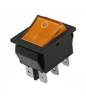 ... Переключатель с подсветкой широкий, желтый, 6pin (IRS-202 KCD2-202N bd1be2954dc