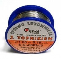 Припой Cynel Sn60Pb40 1mm 100g (ПОС-60Ф)