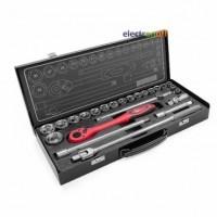 Профессиональный набор инструмента ET-6025 Intertool 1/2 дюйма 25 ед головки 10-32 мм