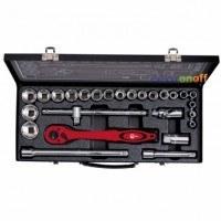 Профессиональный набор инструмента ET-6027 Intertool 1/2 дюйма 26 ед головки 8-32 мм