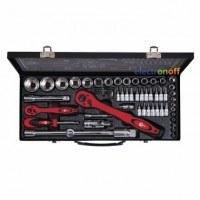 Профессиональный набор инструмента ET-6056 Intertool 1/2 дюйма 1/4 дюйма 56 единиц, головки 4 - 32 мм, биты 18 единиц