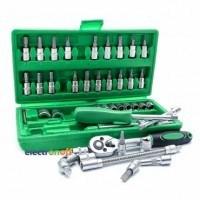 Профессиональный набор инструментов ET-6046 Intertool 46 шт 1/4 дюйма хром-ванадиум