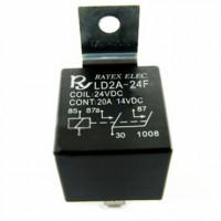 Реле автомобильное LD2A-24F 24VDC SPST-NO 20A