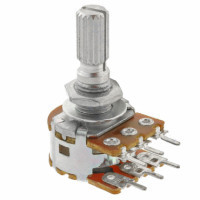Резистор переменный RV16GN(PH) 50 кОм логарифм. стерео