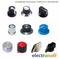 Ручка для потенциометра металлическая AL-PH 15-17 ф15 h17 BLACK