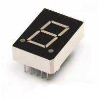 Семисегментный индикатор 10 мм, одноразрядный, зелёный, ОК (KEM-3911-AYG)