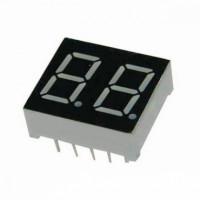 Семисегментный индикатор 14 мм, двухразрядный, зелёный, ОА (KEM-5621-BYG)
