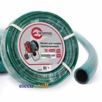 Шланг для полива 3-х слойный 3/4 дюйма 50 м армированный PVC GE-4046 Intertool