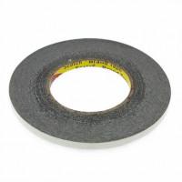Скотч двусторонний 3M 8мм, черный (50м)