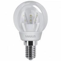 Светодиодная LED лампа 1-LED-259 MAXUS Глоб G45 E-14 3W 3000К CR