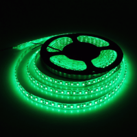 Светодиодная лента 300 smd светодиодов 12V. Тип 3528. Цвет зелёный U57G, 5м