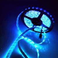 Светодиодная лента влагозащищённая 300 светодиодов 12V. Тип 3528. Цвет синий 5м.
