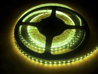 Светодиодная лента влагозащищённая 600 светодиодов 12V. Тип 3528. Цвет белый тёплый 5м.