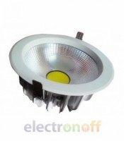 Светодиодный светильник Down Light COB 10W круглый Warm White