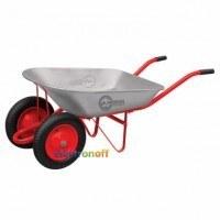 Тачка садово-строительная WB-0623 Intertool 65 л 140 кг 2 пневмоколеса с подшипником 14 дюйма 3.50-8