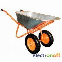 Тачка строительная двухколесная Forte WB6418-1S оранжевая