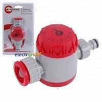 Таймер для подачи воды с сеточным фильтром GE-2011 Intertool внутренней резьбой на входе 3/4 дюйма, 15/30/45/60/75/90/105/120мин, на конектор 1/2 дюйма, автоматическое отключен