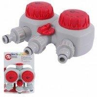 Таймер для подачи воды GE-2012 Intertool с 2-х канальным распределением, 15/30/45/60/75/90/105/120мин, три выхода на конектор 1/2 дюйма автоматическое отключение воды