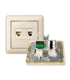Телефонная розетка монтажная на гнезда 8p8c и 6p4c