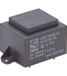 Трансформатор 30VA 230V, 2x7.5V 2000mA 53x63x54мм HAHN EI6031031