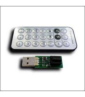 USB ИК приёмник с пультом ДУ (masterkit -NEC) MP708N