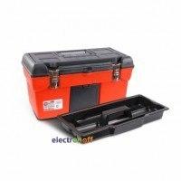 Ящик для инструмента с металлическими замками 19 дюймов 483 x 242 x 240 мм BX-1119 INTERTOOL