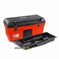 Ящик для инструмента с металлическими замками 24 дюйма 610 x 255 x 251 мм BX-1123 INTERTOOL