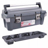 Ящик для инструмента с металлическими замками 25.5 дюймов, 650x275x265 мм BX-6025 INTERTOOL
