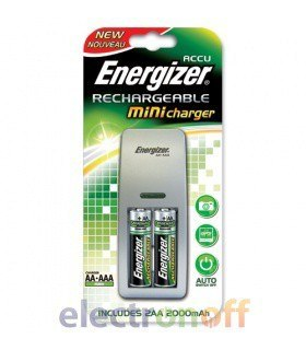 Зарядное устройство Energizer Mini Charger ( + 2 аккумулятора типа АА в комплекте)